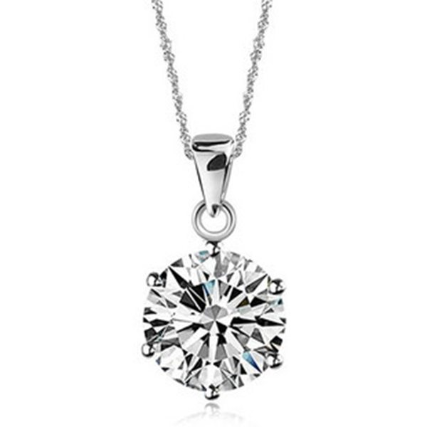 Hõbedane teemantiga kaelakee naistele