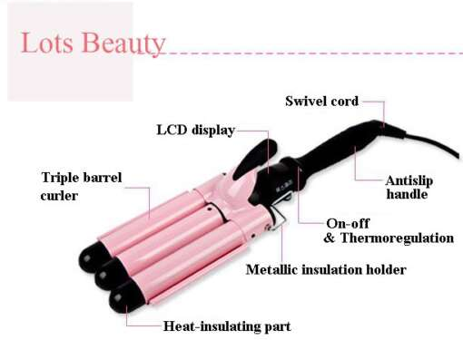 Free Shipping 3D Hair Curler With Digital heating Controller Triple Barrel Hair Roller Easy to DIY you hair Curling Styling 0 0