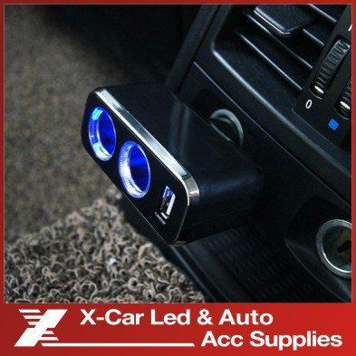Kompaktne LED Indikaatoriga Autolaadija