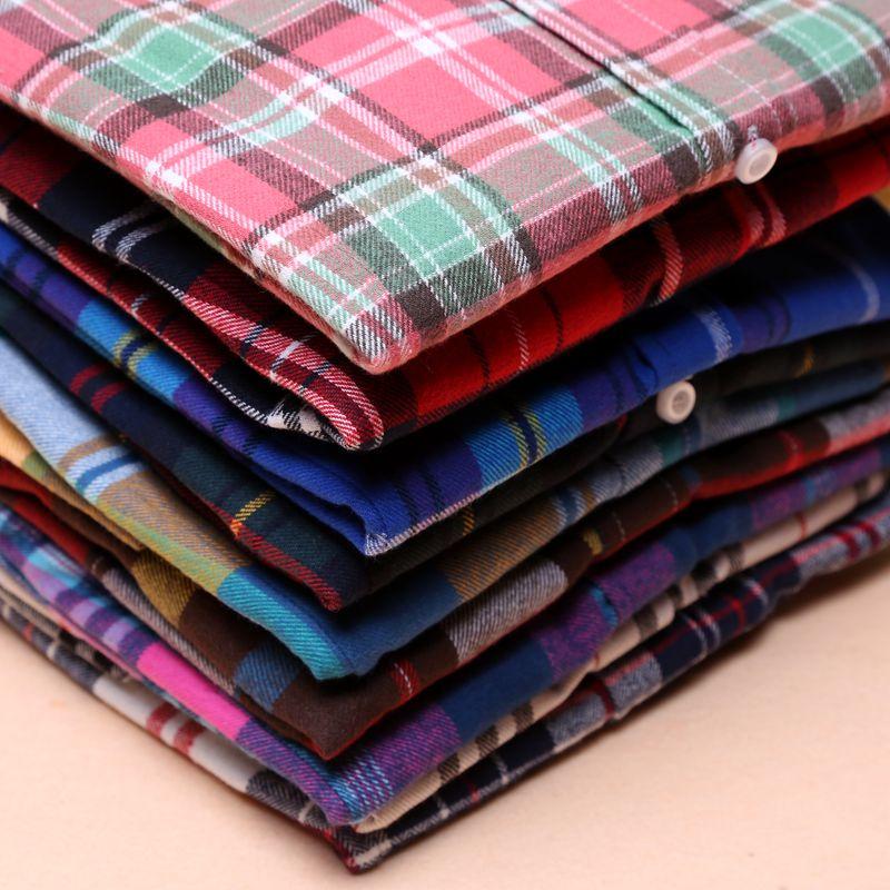 Pikkade varrukatega ruuduline pluus – 19 värvi