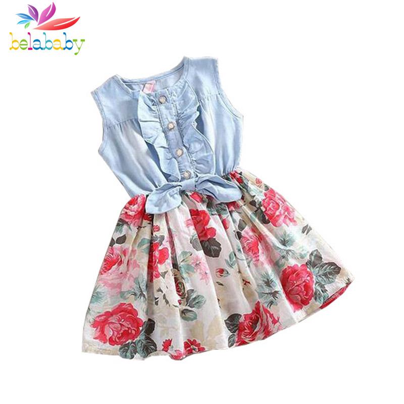 Armas suvine lilleline kleit tüdrukutele