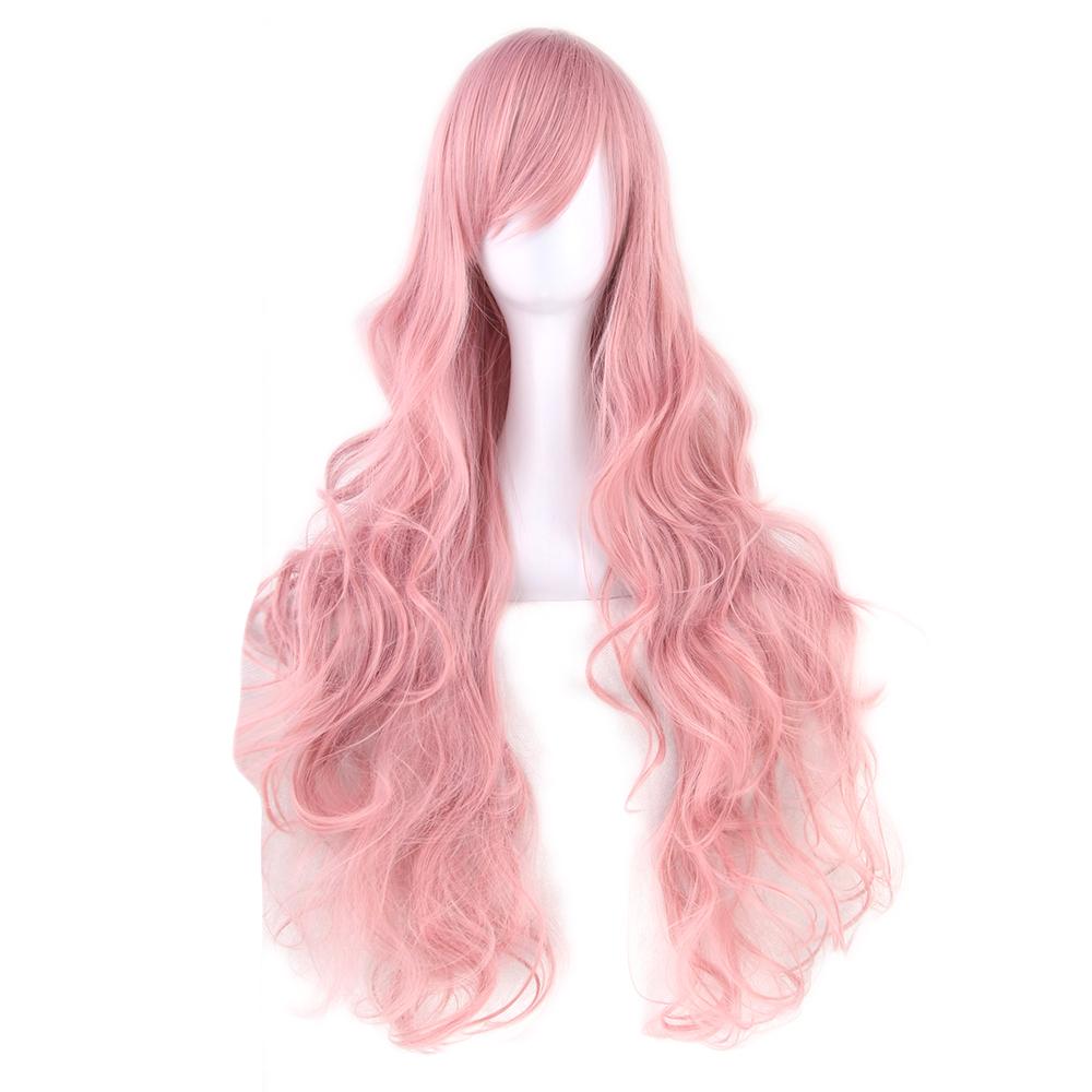 Värvikirevad sünteetilised parukad, pikad juuksed