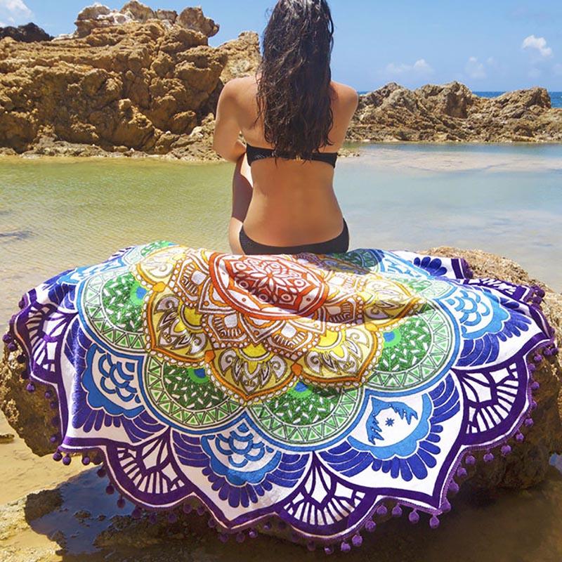 Mandala mustriga ümmargused rätikud