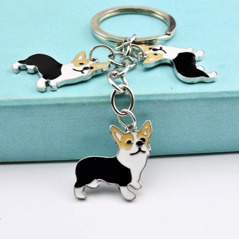 Metallist lemmiklooma (Corgi tõugu koera) kujuline võtmehoidja