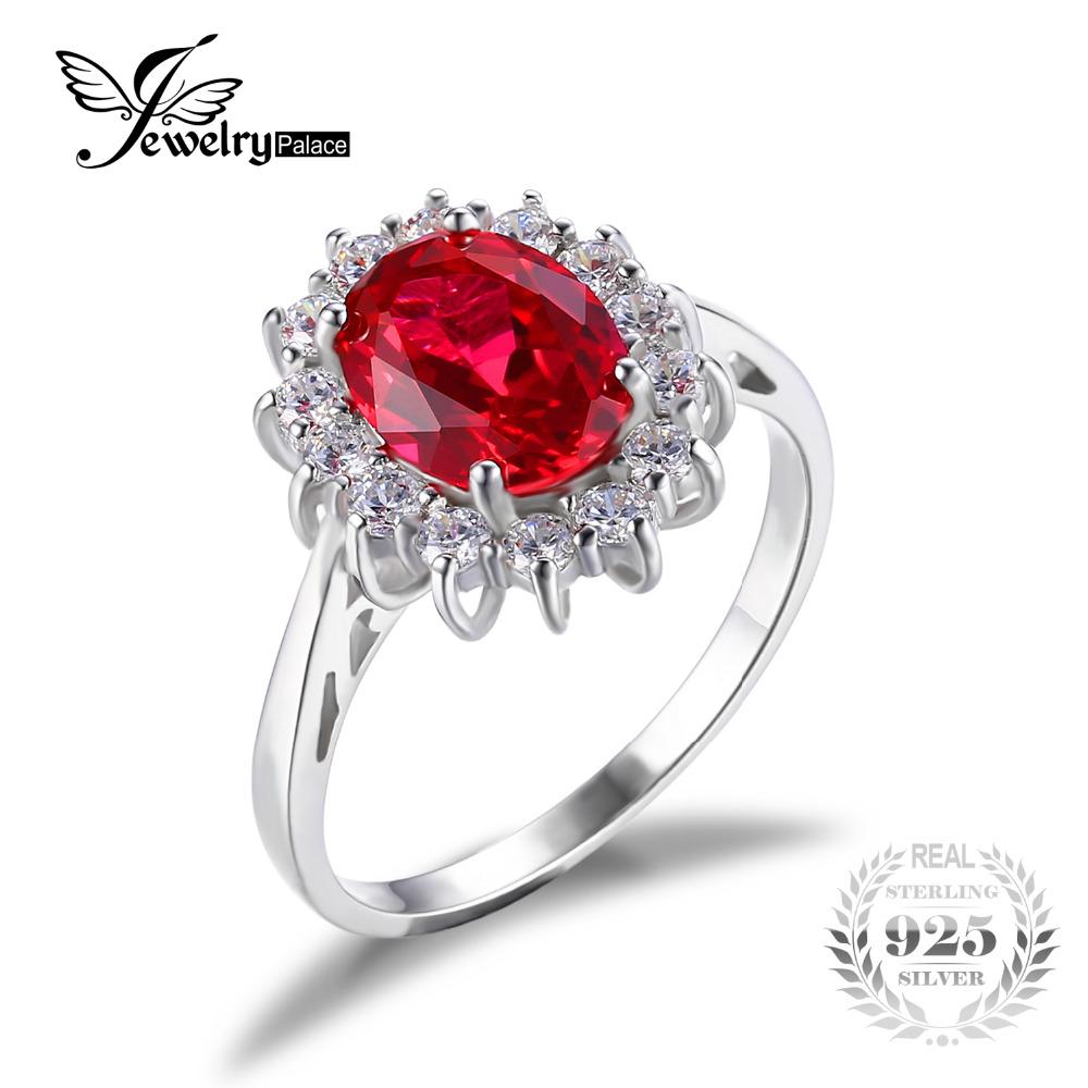 Ovaalse rubiiniga elegantne sõrmus