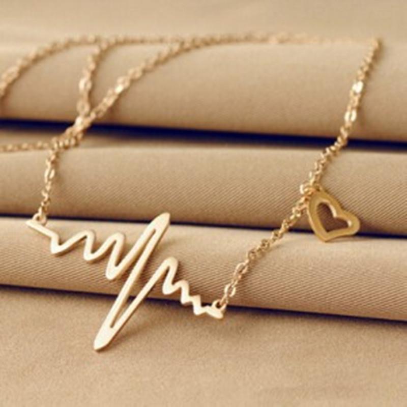 Kuldne või hõbedane kett südamelöögiga