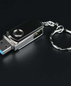 Hõbedane mälupulk võtmehoidjaga – 4GB