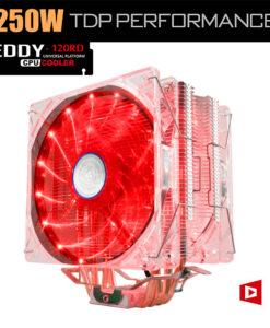 LED tuledega CPU jahuti