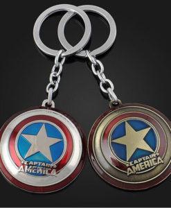 Captain America logoga võtmehoidja