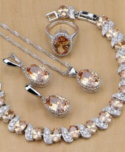 Kollakate kristallidega ehtekomplekt