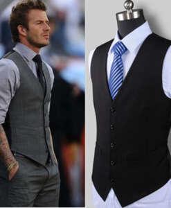 Must või hall vest