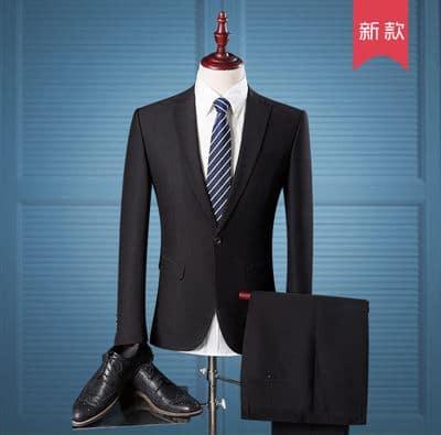 Must, sinine või pruun ülikond