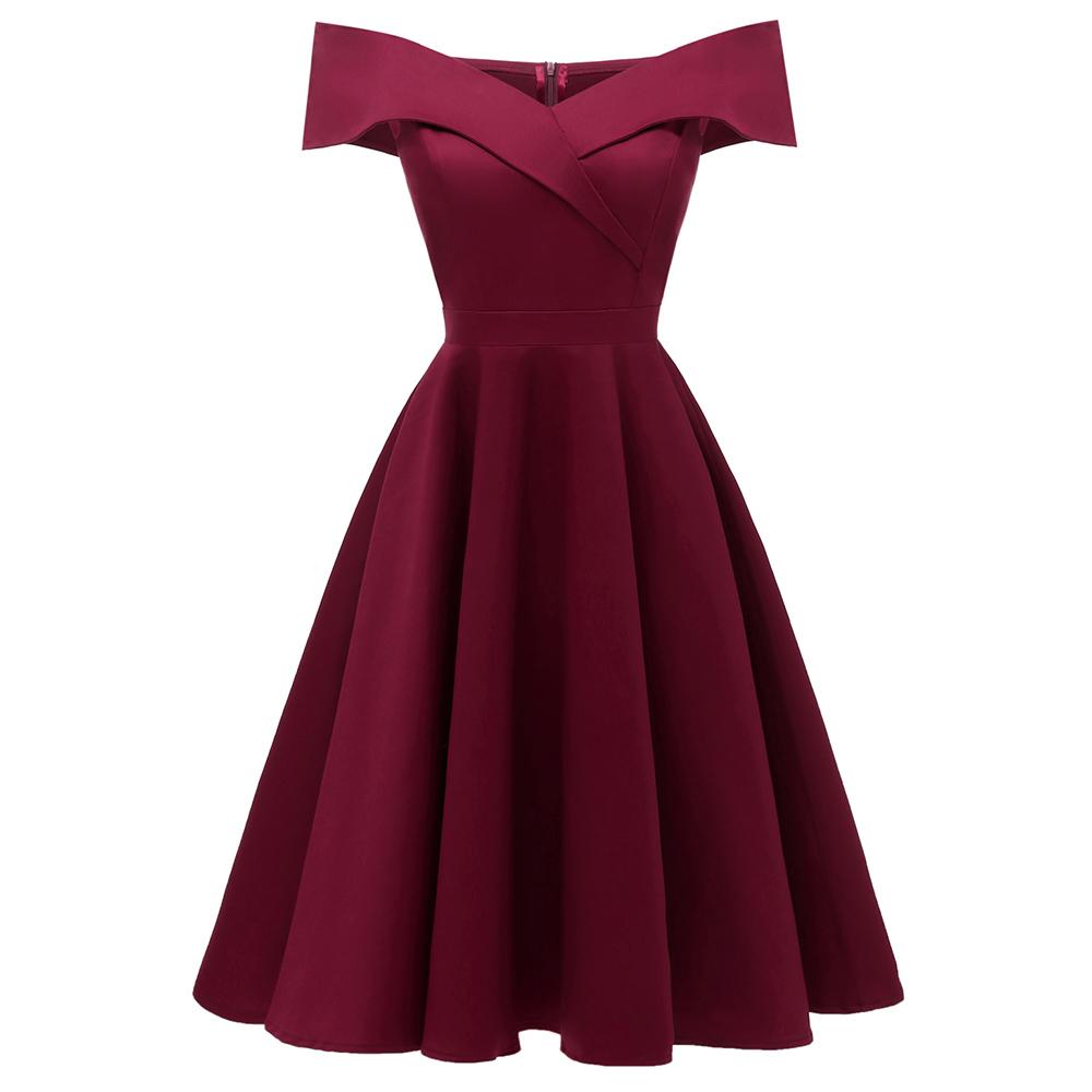 1c38b0f1825 Vintage stiilis A-lõikega sinine või punane kleit