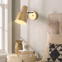 Nordic Bedroom Bedside Lamp Wall Lamp Simple Modern Aisle Corridor Hotel Golden Background Wall Lamp Creative 6