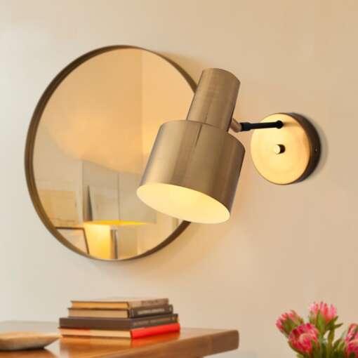 Nordic Bedroom Bedside Lamp Wall Lamp Simple Modern Aisle Corridor Hotel Golden Background Wall Lamp Creative 7