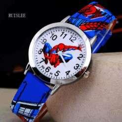 Spider Man Hot Sale Watch Cute Cartoon Watch Kids Spider Man Watches Rubber Quartz Watch Gift