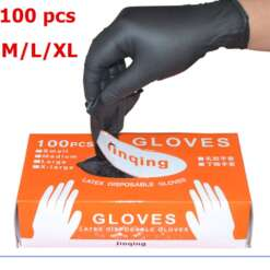 100Pcs Box Disposable Mechanic Gloves Nitrile Gloves Household Cleaning Washing Black Laboratory Nail Art Anti Static