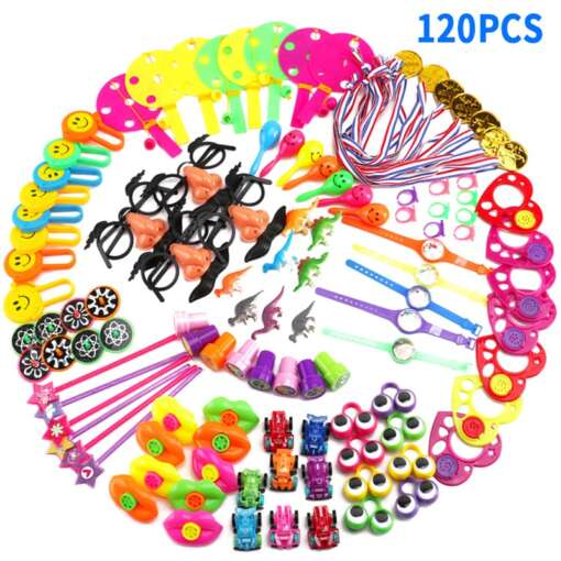 120 Pcs Carnival Prizes Festive Party Supplies Pinata Fillers Assorted Gift Toys Goodie Bags for children 1
