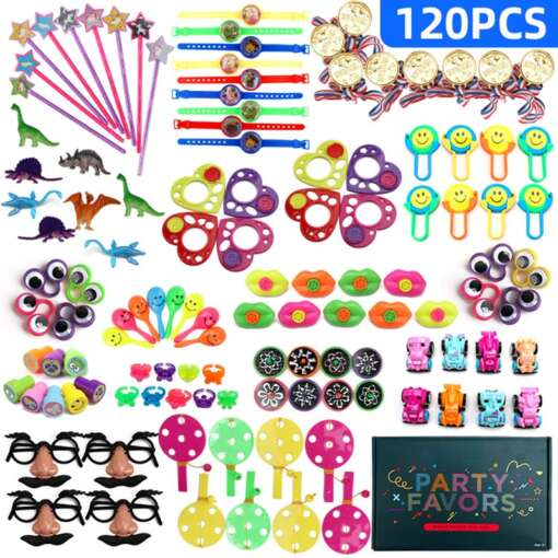 120 Pcs Carnival Prizes Festive Party Supplies Pinata Fillers Assorted Gift Toys Goodie Bags for children