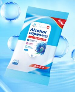 50pcs Alcohol Disinfect Wipes 75 Super Soft alcohol wipe Antiseptic Pads Large Wet Wipes 8x6 Sterilization