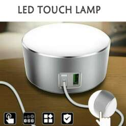 Multipurpose 2 USB Smart Phone Charger LED table reading lamp desk Bedside Night Light Dimmable Touch