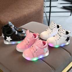 Korean Style Fashion Luminous Sneakers Casual Children Shoes Anti-skid LED Light Up Shoes Universal for Girls Boys