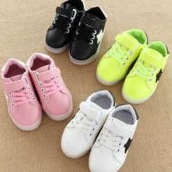 Children's Shoes Boys And Girls Colorful Radiant Shoes Led Flash Children's Shoes Non-slip Children Fashion Shoes
