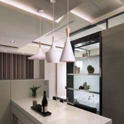 Modern lighting slope interior luxury restaurant retro bar ceiling bedroom ceiling wood aluminum LED pendant lamp