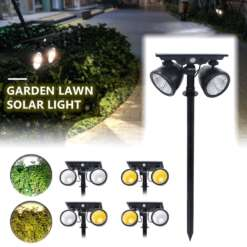 Outdoors Led Solar Garden Yard Lamp Lights Solar Led Lawn Lamp Street Lighting Luminaria Landscape Lamp Solar Powered Path Light