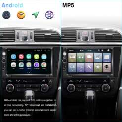 "Podofo 2 din Car Stereo 7"" HD Car Radio Bluetooth FM Audio MP5 Player 2din Autoradio Support Rear View Camera 7018B Radio Car"
