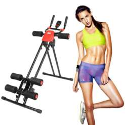 Fitness Pedal Exercise Bike Trainer Rail Cruncher Abdominal Roller Coaster Abdominal Machine Gym Home Cycling Equipment Home HWC