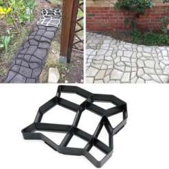 Garden Decoration DIY Path Maker Reusable Concrete Molds Cement Mold Paving Cement Stone Walk Paving Paver Concrete Brick Mold
