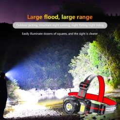 Outdoor Camping Portable LED Headlight Smart Induction Headlamp Power Zoom Head Lamp USB Rechargeble Waterproof Flashlight Torch