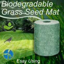 Biodegradable Grass Seed Mat Seed Starter Mat Carpet Grass Seed Mixture Mat Roll Biodegradable Mat Fertilizer Garden Supplies