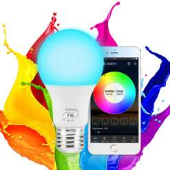 Dimmable WiFi Smart Light Bulb Timer Function Multicolor Wake-Up Lights No Hub Required Compatible with Alexa/Google LED Bulbs