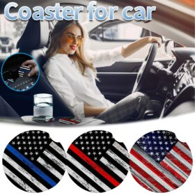 2 Pack Water Bottle Coaster Coffee Mug Removable Universal Neoprene Car Cup Mats For Drinks Absorbent
