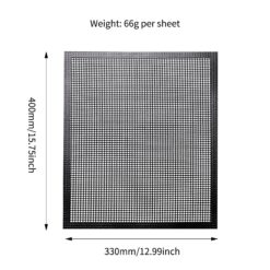Heat resistant Barbecue Net Silicone Baking Pan Mat Hollow Gr id Grilling Mat Bbq Mesh Grill 1